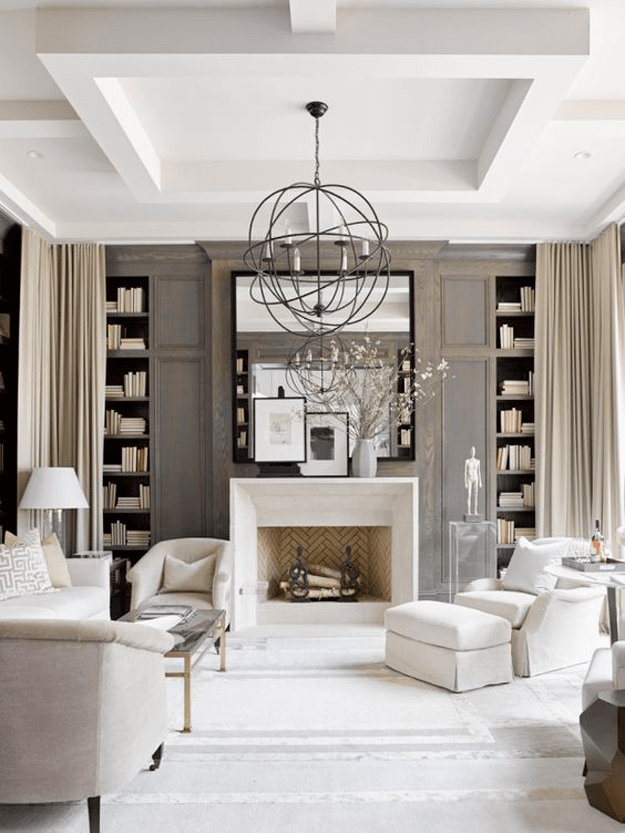 Cream Living Room with Poised Taupe Wall Paint Sherwin Williams 2017 Color of the Year