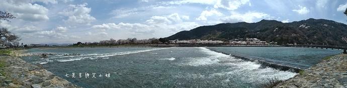 5 京都 嵐山渡月橋 賞櫻 櫻花 Saga Par 五色霜淇淋 彩色霜淇淋