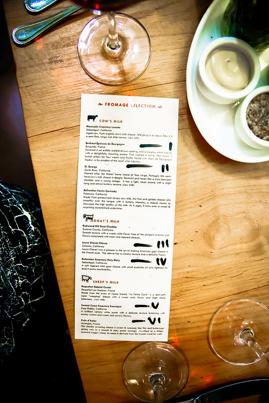 The Girl and The Fig restaurant menu