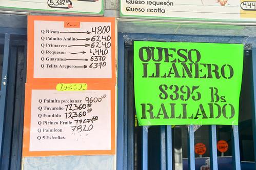 Costo del queso con el aumento de  la unidad tributaria