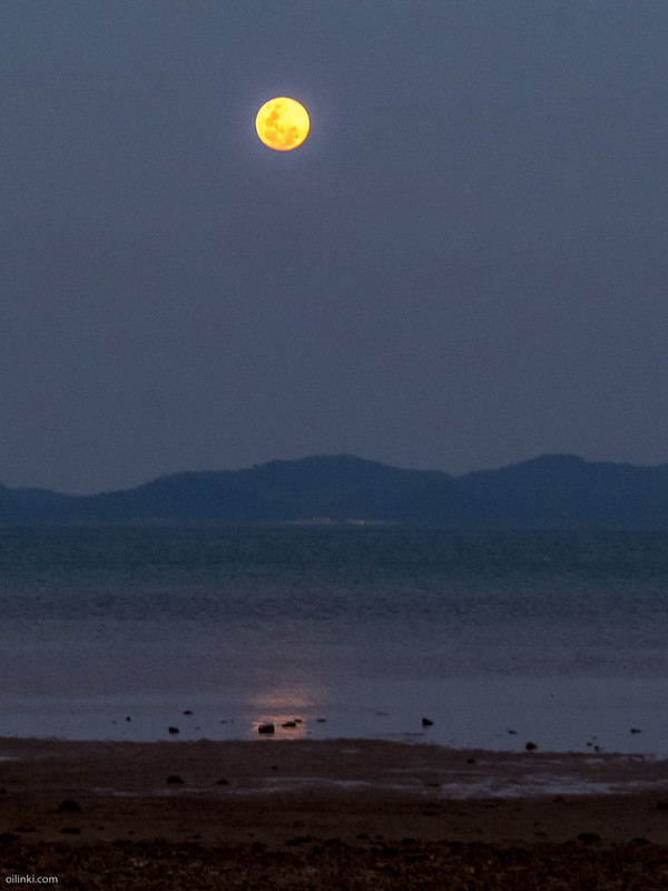 Full Moon rise Phuket, Thailand and Koh Yao Yai
