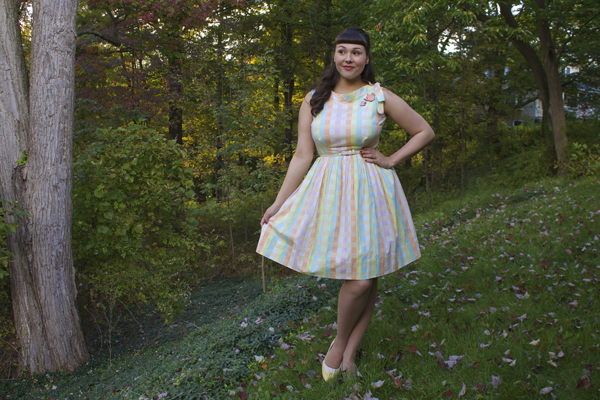 pastel vintage dress