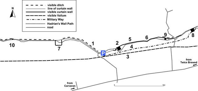 Cawfields Quarry car park plan