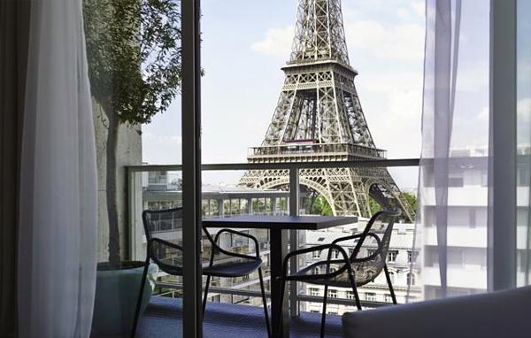 Hotel Pullman, el hotel más bonito con mejores vistas de París a la Torre Eiffel