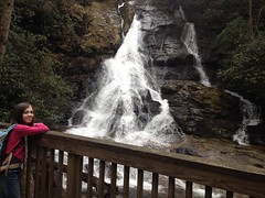 Sophie at High Shoals Falls - Second Cascade