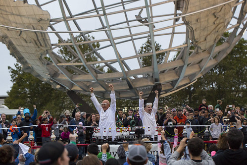 Coke and Mentos at the Unisphere. World Maker Faire 2016 | by @MAKERFAIRE