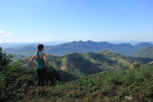 Admiring the views, Kalaw to Inle Lake trek