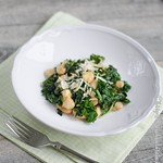 Giant Crusty and Creamy White Beans with Curly Kale