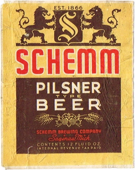 Schemm-Pilsner-Beer-Labels-Schemm-Brewing-Company