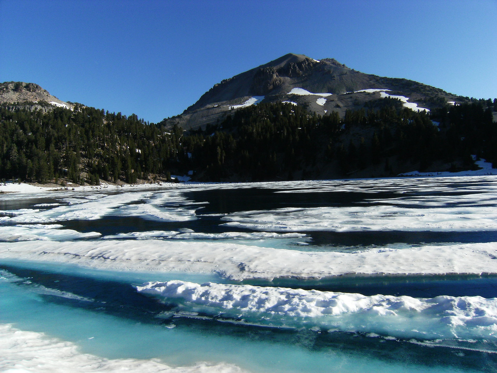 blue ice in the mountains