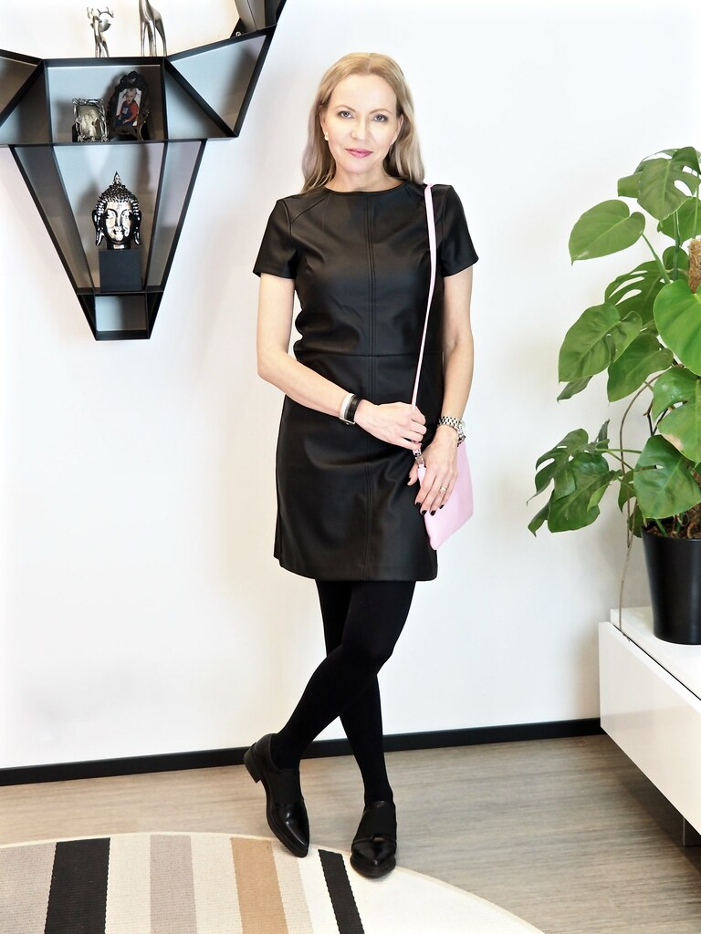 Oasis faux leather dress