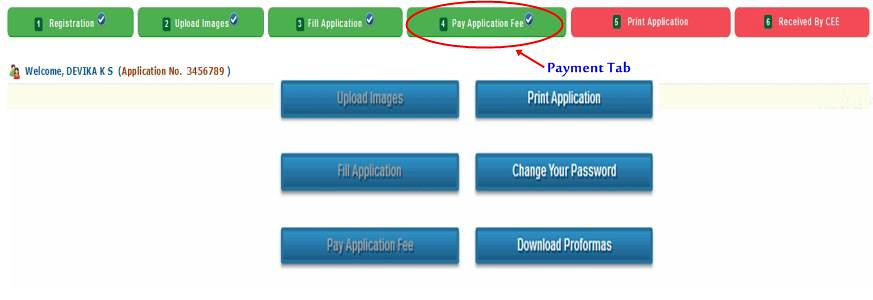 KEAM APplication Form Payment Confirmation