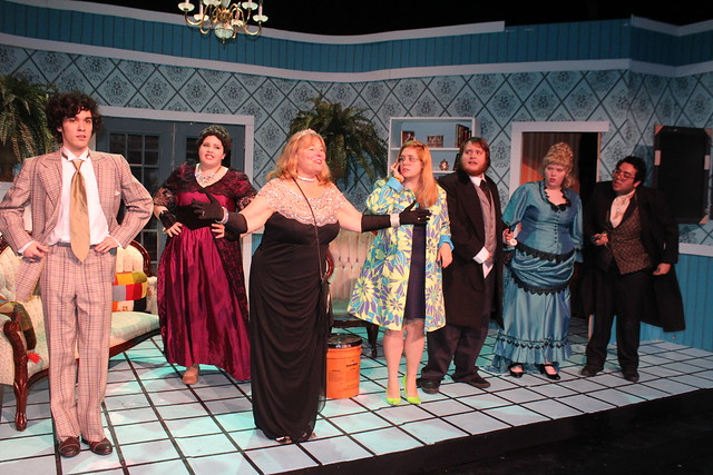 The cast takes a curtain call in the final scene from the Lee College Theatre productino of Rick Abbot's Play On!