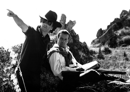 The Sicilian - Backstage - Michael Cimino and Christopher Lambert