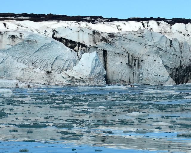 Borde del glaciar Vatnajökull y su deshielo