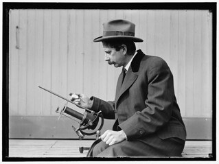 Identified!  [Charles Greeley Abbot, astrophysicist and Secretary of the Smithsonian, with his device: a silver-disc pyrheliometer which measures direct beam solar irradiance]   (LOC) | by The Library of Congress