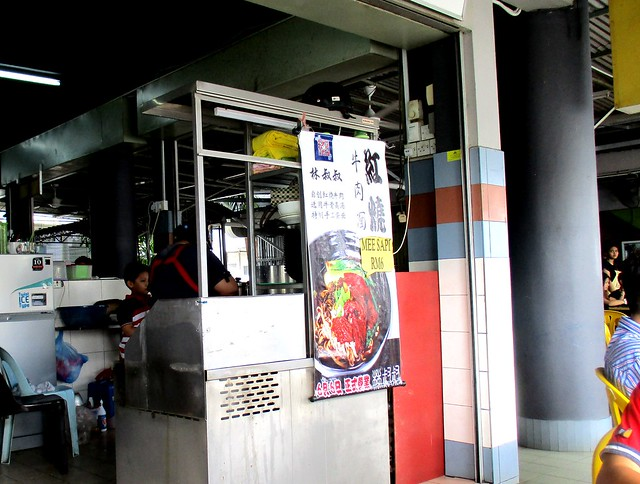 Chopsticks beef noodle stall