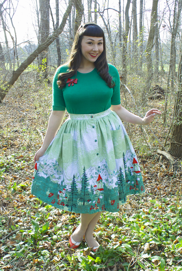 lindy bop alpine swing skirt
