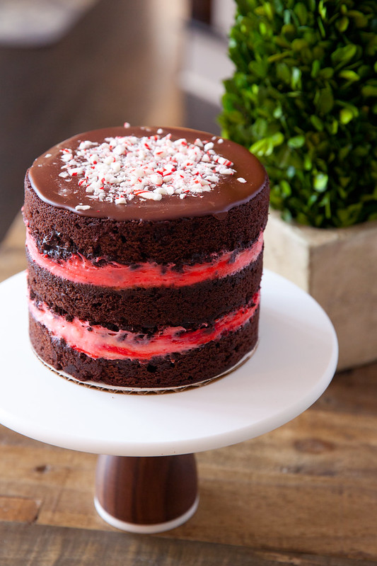 Peppermint Mocha Layer Cake