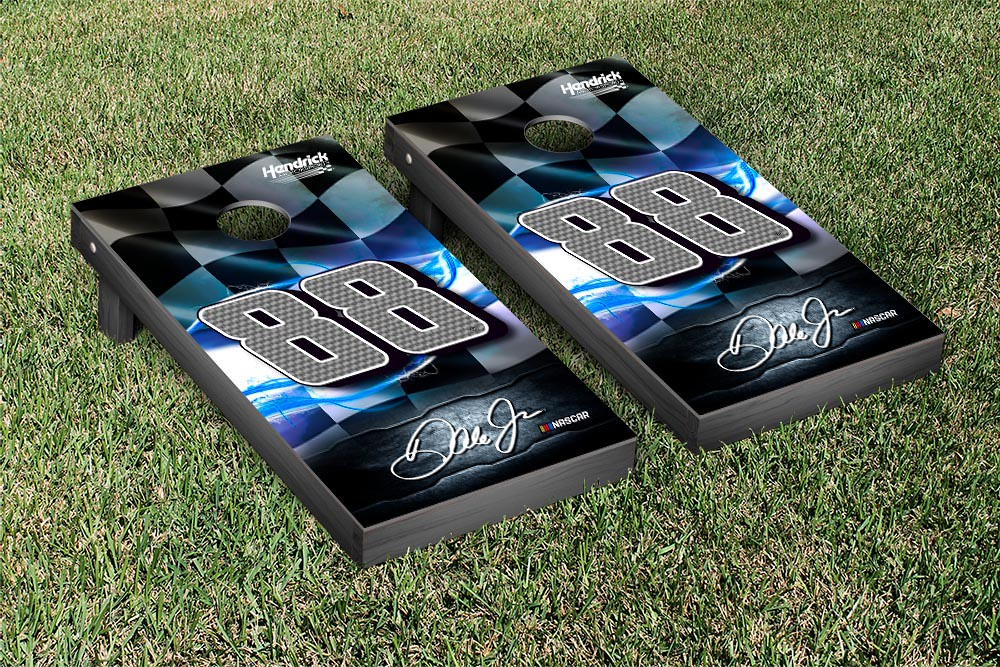 DALE EARNHARDT JR #78 CORNHOLE GAME SET NIGHT LIGHTS VERSION (1)