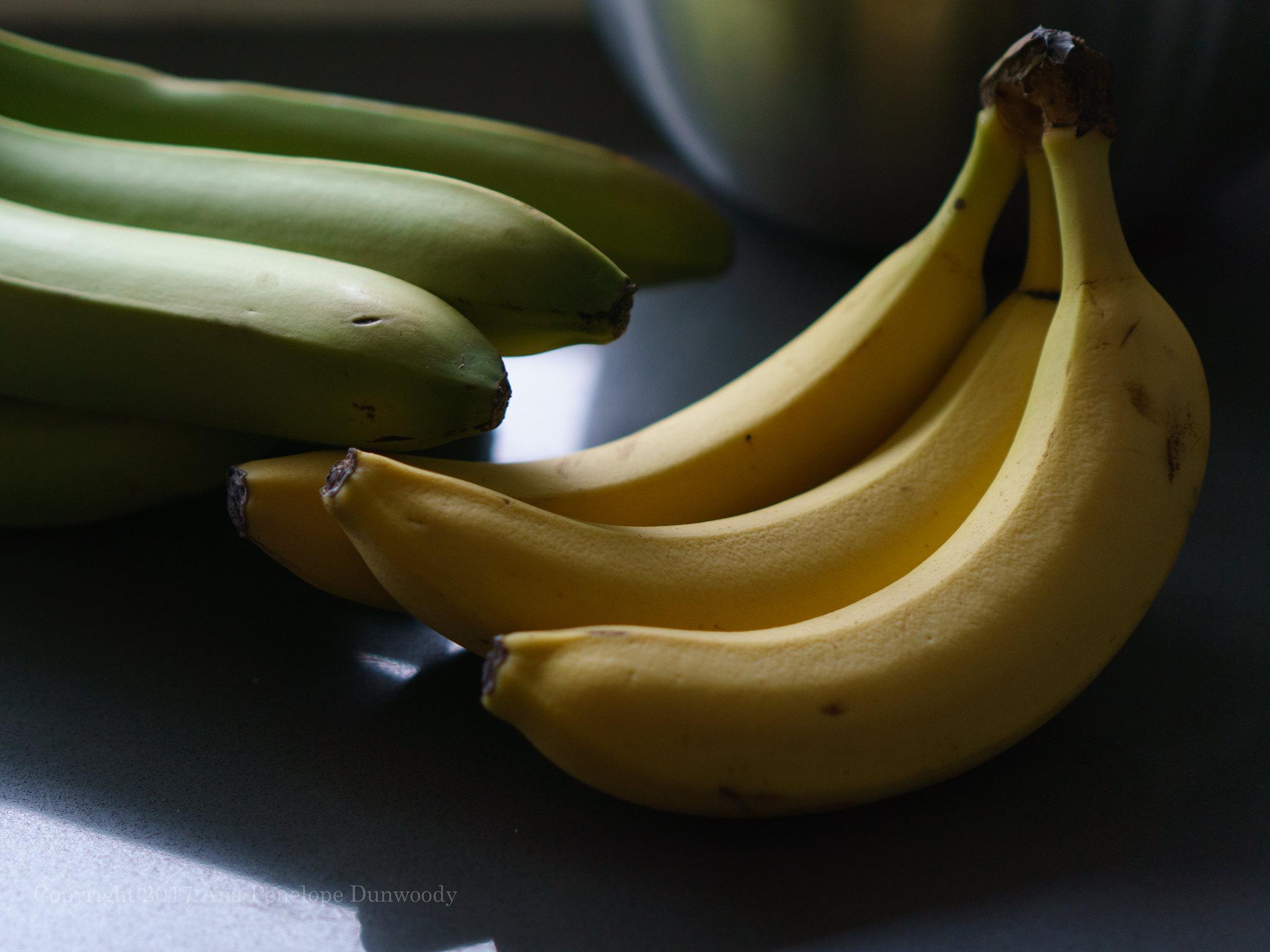 Ripe & Unripe Organic Bananas