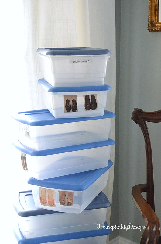 100 Days of Letting Go-Shoe Boxes-Housepitality Designs