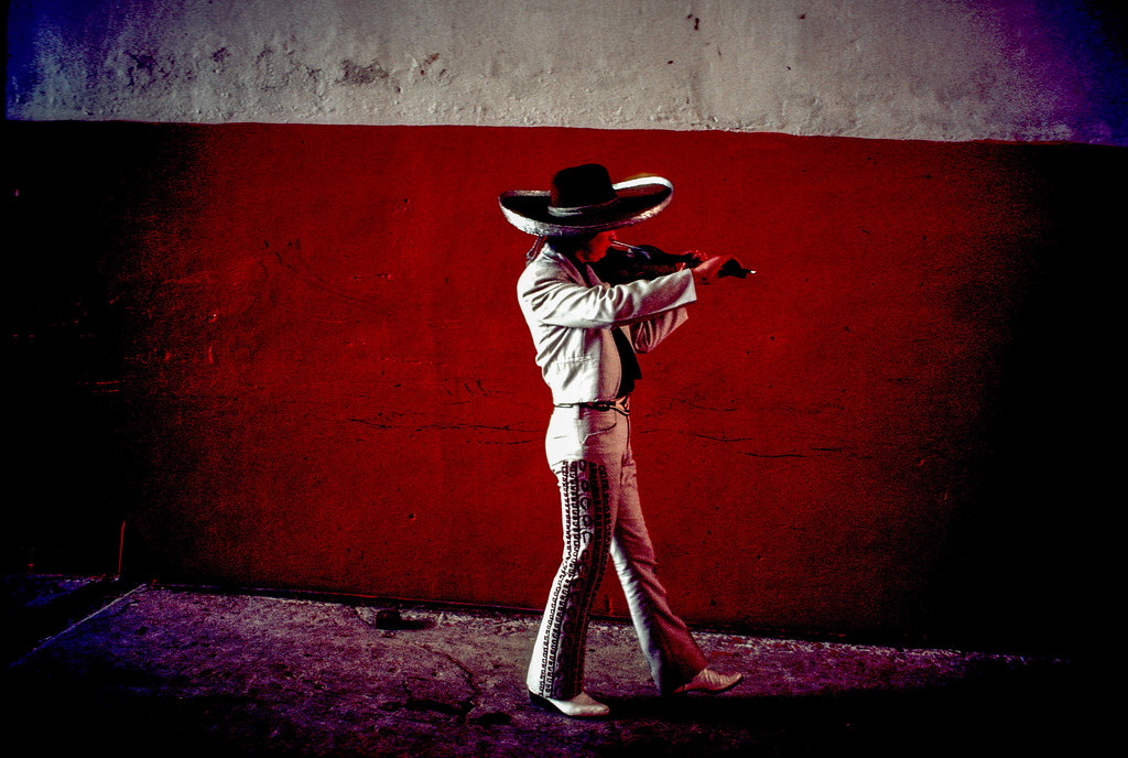 Mariachi in the bullring, Bogota, 1976 | by Marcelo  Montecino