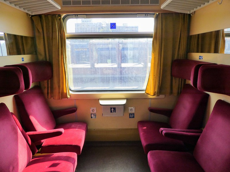 Traditional carriages on Bratislava trains