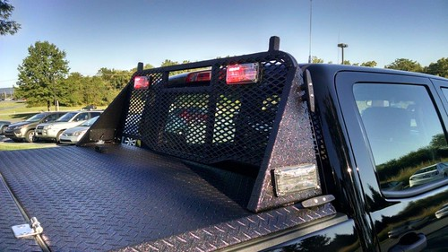 Hard Truck Bed Cover & Custom Headache Rack With Side-Moun… | Flickr