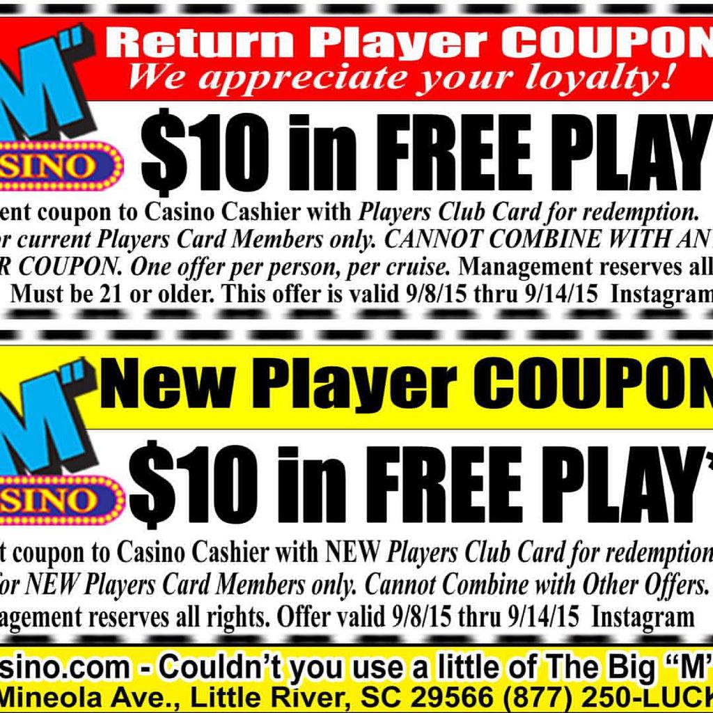coupons casino