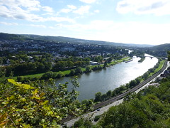 Blick über Trier vom Eifelsteig aus