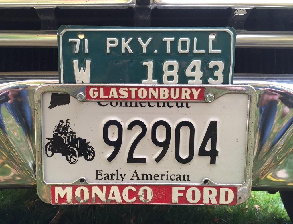 Monaco Ford dealer license plate frame. | Vintage dealership… | Flickr