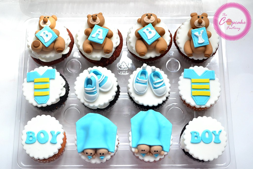 twin boy baby shower cupcakes  the cupcake factory barbados  flickr, Baby shower invitation