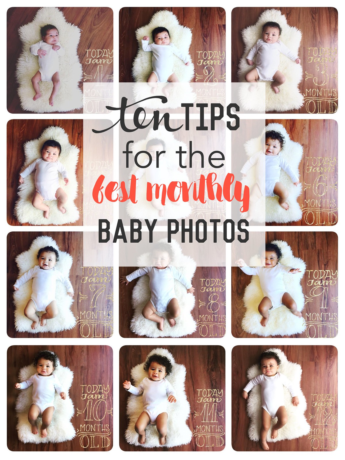 10 tips for the best monthly baby photos