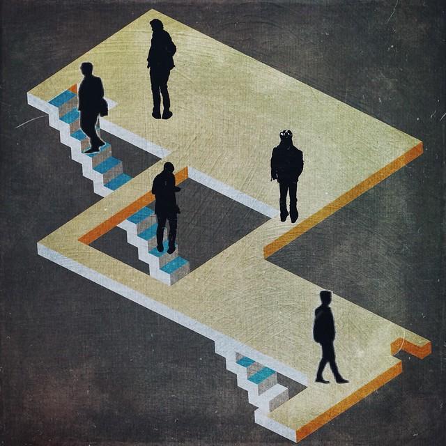 08-le scale impossibili di Oscar Reutersvärd