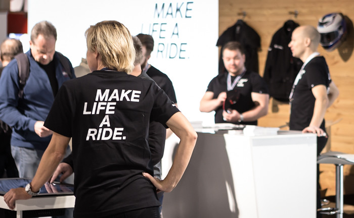 make life a ride bmw messuosasto helsinki messukeskus motorbike  (1 of 1)