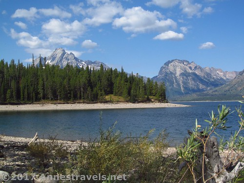 Views along the lower loop of the Lakeshore Trail, Grand Teton National Park, Wyoming