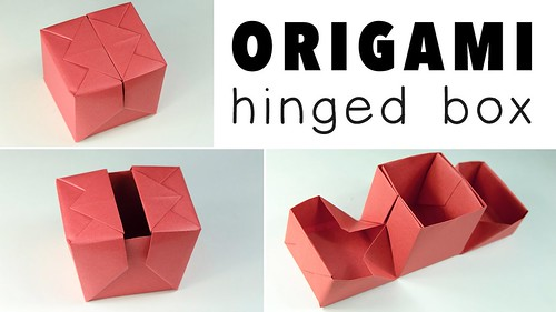 origami hinged gift box tutorial learn how to make a