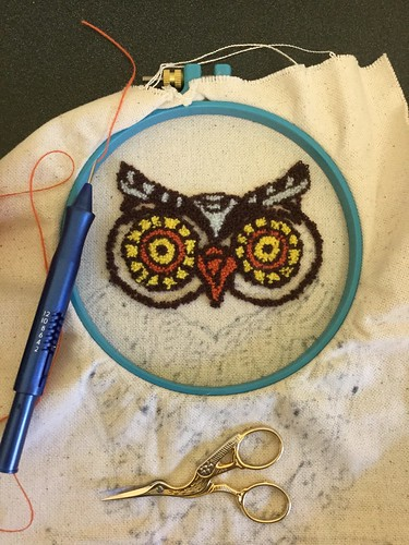 Punch needle owl | by Twill Power