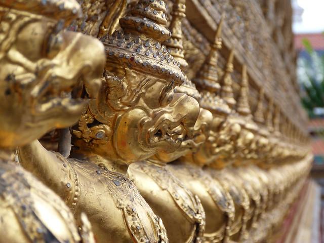 Detalle del Templo del Buda esmeralda (Bangkok, Tailandia)