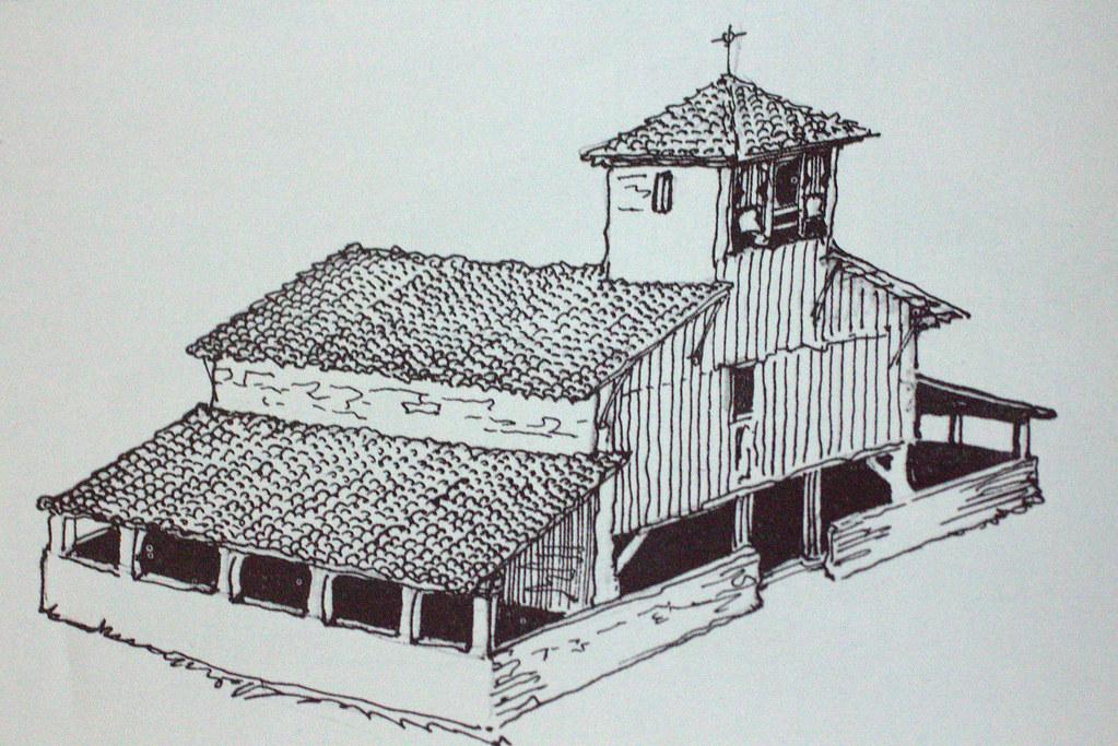 Iglesia de madera de Castillo Elesabeitia (Vizcaya) por don Julio Caro Baroja