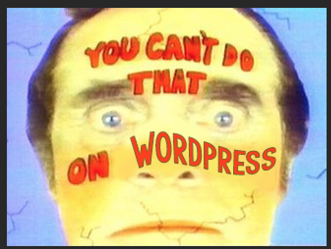 You can't do that on WordPress