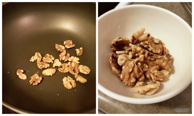 walnut toasting