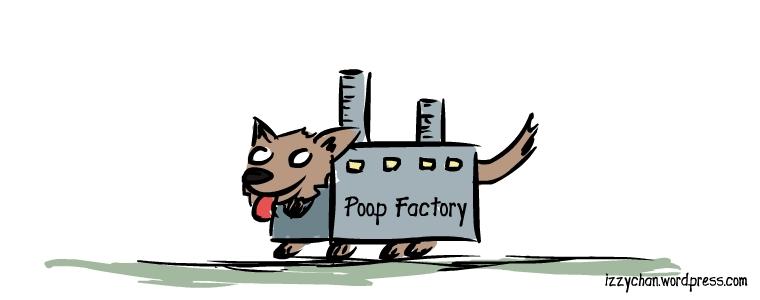 dog poop factory costume