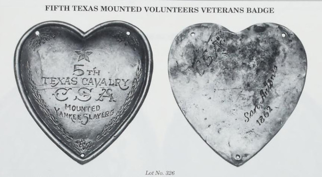 5th Texas Cavalry Veterans Badge FAKE