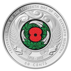 Reserve Bank of New Zealand Armistice Day Coin