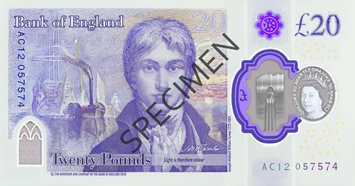 Turner Bank of England note design