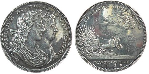 1689 Coronation medal of William and Mary