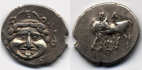 Parion Gorgon head hemidrachm
