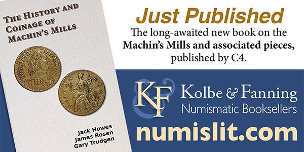 Kolbe-Fanning E-Sylum ad Machins Mills book